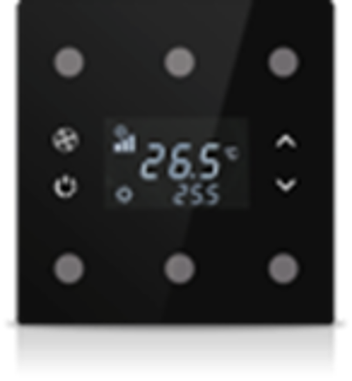 Picture of Rosa Solid Thermostat 3F Black