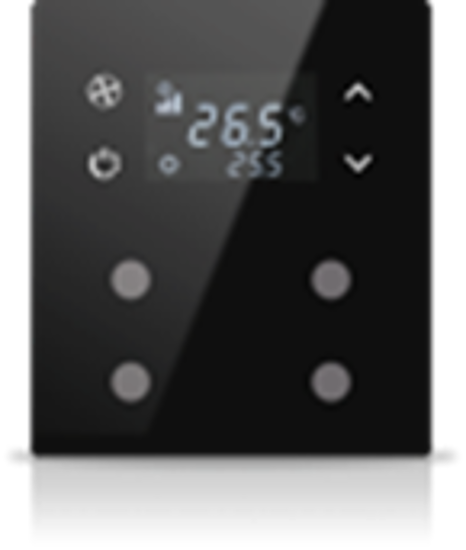 Picture of MONA 4 BUTTON THERMOSTAT BLACK