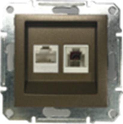Picture of DOUBLE RJ45 CAT.6 UTP + RJ11 BRONZE
