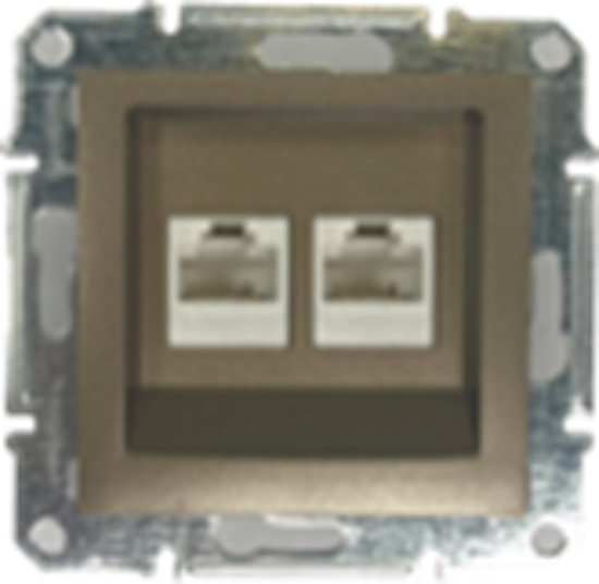 Picture of DOUBLE RJ45 CAT.6 UTP DATA BRONZE