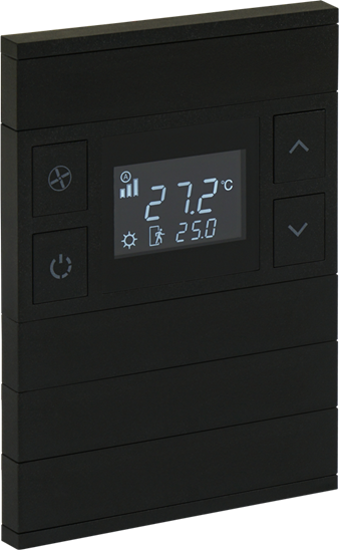 Picture of ORIA THERM 4 FOLD ANTHRACITE BLACK GLASS NO STATUS