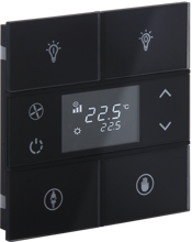 Picture of Rosa Crystal Thermostat 2F Black Status Icon