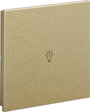 Picture of Rosa Metal Switch Single Gold Status Icon