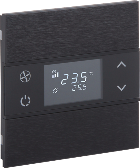Picture of Rosa Metal Thermostat 1F Anthracite Status No Icon