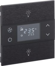 Picture of Rosa Metal Thermostat 1F Anthracite Status Icon