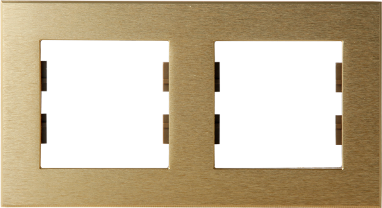 Picture of ROSA FRAME 2 GANG GOLD