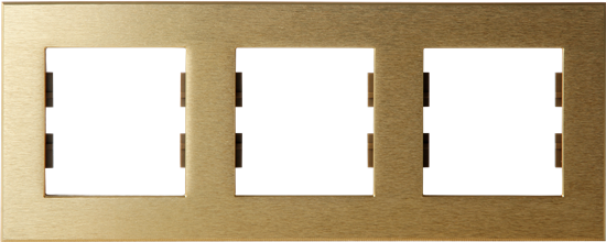 Picture of ROSA FRAME 3 GANG GOLD