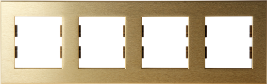 Picture of ROSA FRAME 4 GANG GOLD