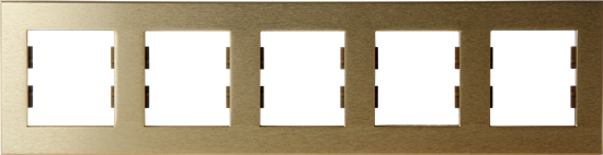 Picture of ROSA FRAME 5 GANG GOLD