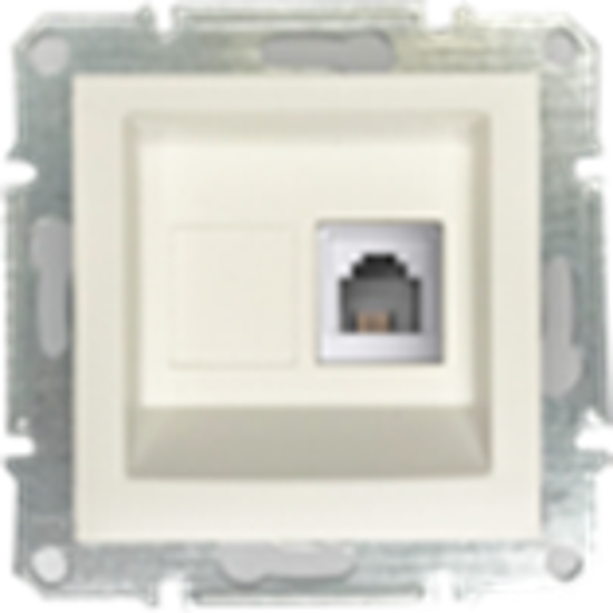 Picture of SINGLE RJ11 TELEPHONE  PEARL WHITE