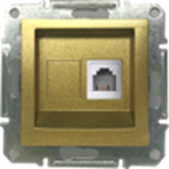 Picture of SINGLE RJ11 TELEPHONE GOLD