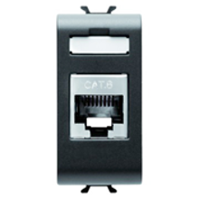 Picture of CONNECTOR RJ45 1M CAT.6 FTP CHORUS ANTHRACITE
