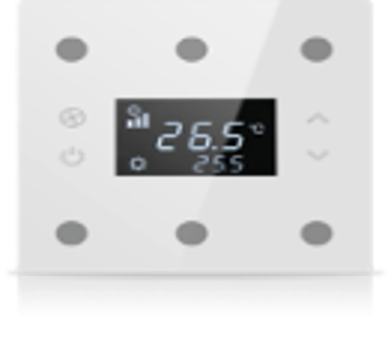 Picture of Rosa Solid Thermostat 3F White