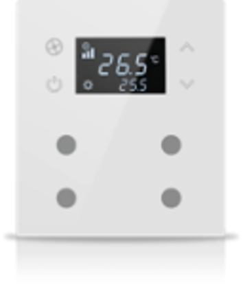 Picture of MONA 4 BUTTON THERMOSTAT WHITE