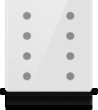 Picture of MONA 8 BUTTON SWITCH WHITE