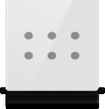 Picture of MONA 6 BUTTON SWITCH WHITE