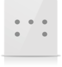 Picture of MONA 5 BUTTON CARD HOLDER WHITE