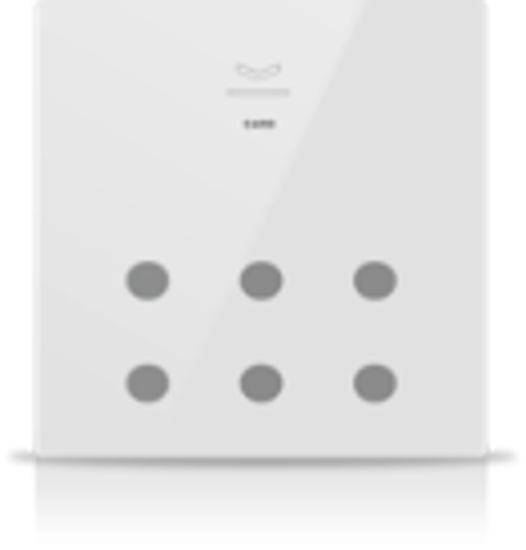 Picture of MONA 6 BUTTON CARD HOLDER WHITE