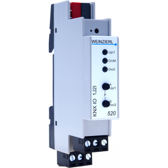 Picture of Weinzierl KNX IO 520 Blind actuator 1-fold and binary input 2-fold