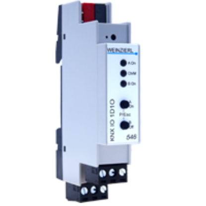 Picture of Weinzierl KNX IO 546 1..10 V dimming actuator 1-fold and switching actuator 1-fold