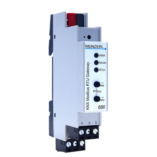 Picture of Weinzierl KNX Modbus RTU Gateway 886 to Modbus RTU