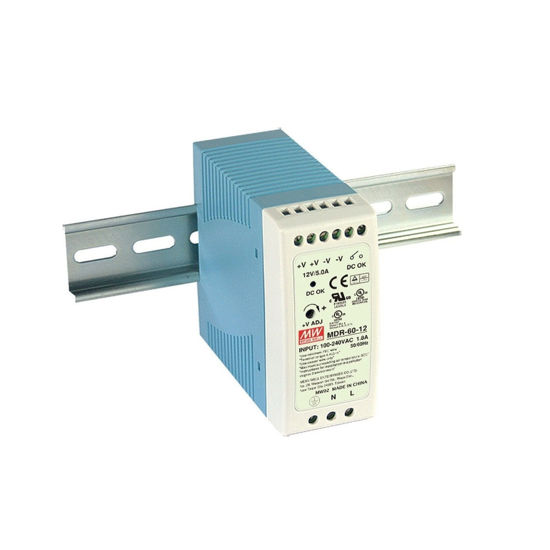 Picture of MEAN WELL 12Vdc 5.0A Power Supply (DIN-Rail)