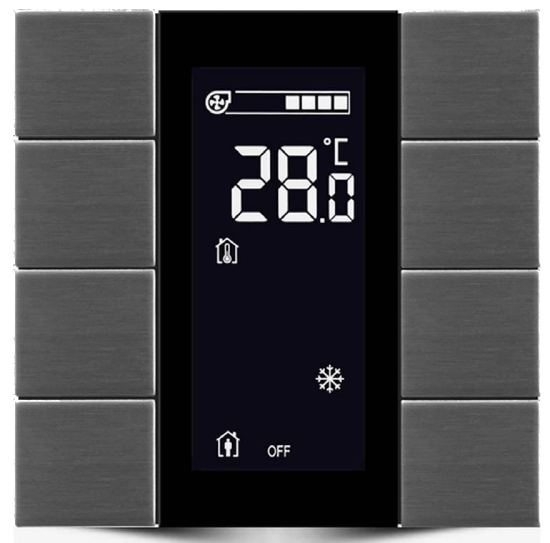Picture of iSwitch with LCD - 8 Button Anthracite Matt Plastic