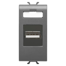 Picture of USB SOCKET OUTLET 1 M ANTHRACITE