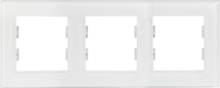 Picture of ROSA GLASS FRAME 3 GANG PEARL WHITE