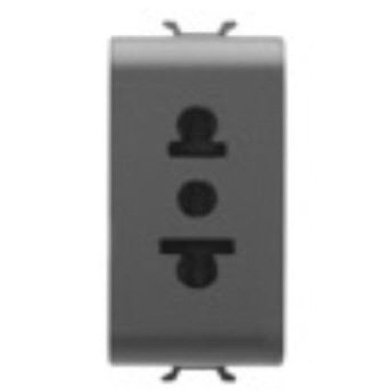 Picture of S. OUTLET 1M 2P+E 15A USA ANTHRACITE