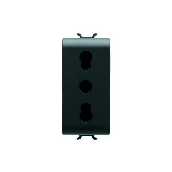 Picture of ITALIAN STANDARD SOCKET-OUTLET 16A DUAL AMPERAGE ANTHRACITE