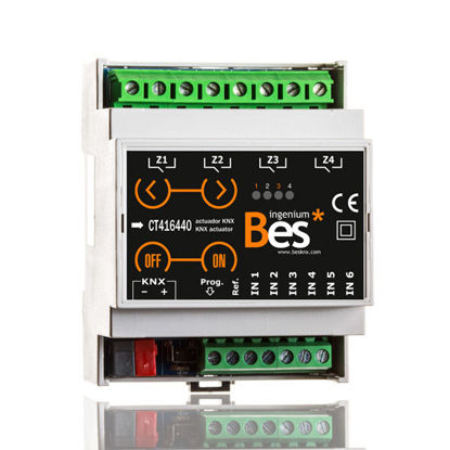 Picture of On/Off actuator - 6 inputs - 4 outputs 16A - DIN format - Manual control