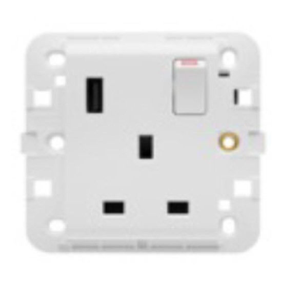 Picture of SINGLE SWITCHED SOCKET 13A WITH USB WHITE