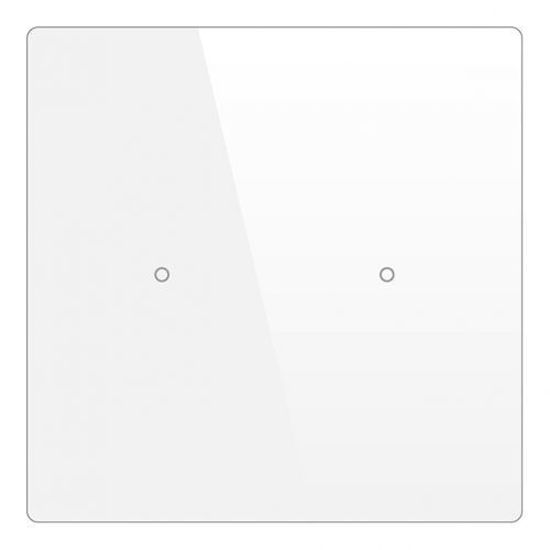 Picture of Cubik-SQ2 white Basic push-button 2 areas - Temp and humidity sensor
