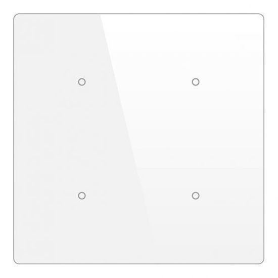 Picture of Cubik-SQ4 white Basic push-button 4 areas - Temp and humidity sensor