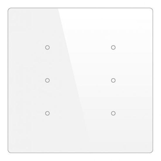 Picture of Cubik-SQ6 white Basic push-button 6 areas - Temp and humidity sensor