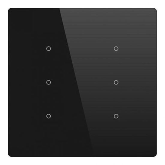 Picture of Cubik-SQ6 black Basic push-button 6 areas - Temp and humidity sensor