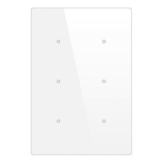 Picture of Cubik-V6 white Basic push-button 6 areas - Temp and humidity sensor