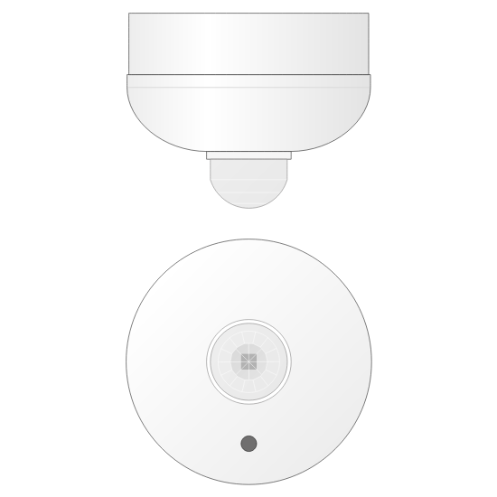 Picture of Infrared movement detector - LUX threshold - Surface