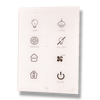 Picture of Cubik-V8 white Basic push-button 8 areas - Temp and humidity sensor
