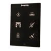 Picture of Cubik-V6 black Basic push-button 6 areas - Temp and humidity sensor