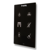Picture of Cubik-V6 black Design push-button 6 areas - Temp and humidity sensor