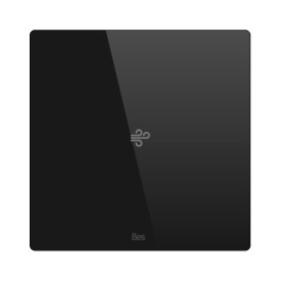 Picture of Square thermostat - Temperature sensor - Basic black