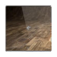 Picture of Square thermostat - Temperature sensor - Capriccio white