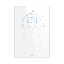 Picture of Vertical touch panel thermostat - Circular LED indicator - Basic white