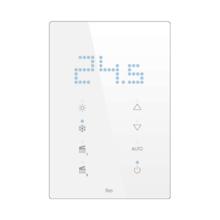 Picture of Vertical touch panel thermostat - Integrated LED indicator - Basic white