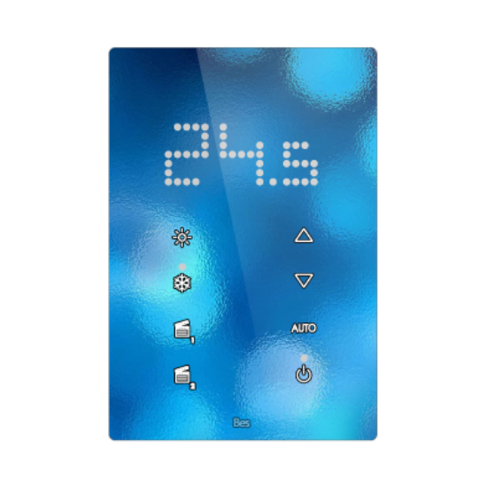 Picture of Vertical touch panel thermostat - Integrated LED indicator - Design white