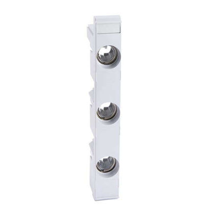 Picture of Fuse holder DO2 3P for busbars 60 mm, width 27 mm, with mask