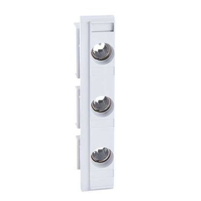 Picture of Fuse holder DO2 3P for busbars 60 mm, width 36 mm, with mask