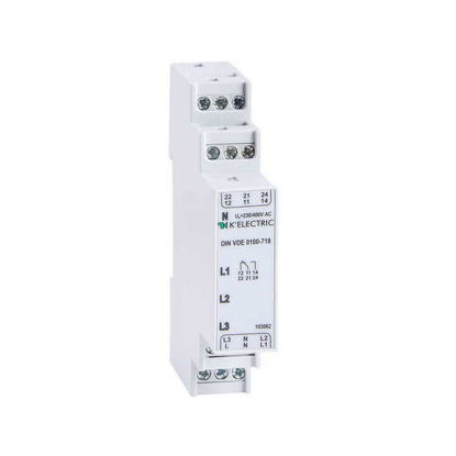 Picture of Control relay phase 3F, 2 CO, 3 LED, VDE 100-718